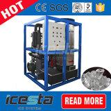 Tube commercial de glace de capacité d'Icesta faisant la machine 5t/24hrs