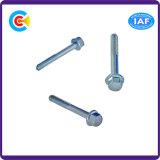 Parafuso Shrinking galvanizado Steel/4.8/8.8/10.9 da flange do carbono para prendedores do edifício/maquinaria/indústria