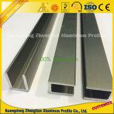 Cadre en aluminium anodisé pour portes et fenêtres avec profil en aluminium U