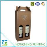 Contenitore di lusso di vino del cartone dell'oro della maniglia della corda
