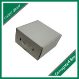 Il contenitore impaccante di maniglia di plastica della scatola di cartone con la maniglia progetta liberamente