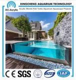 Tamanho personalizado e painel acrílico transparente usado para piscina