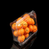 APET effacent la caisse d'emballage en plastique transparente de tomate-cerise et d'oranges