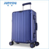 Alta calidad de Junyou equipaje duro del instrumento de la carretilla de la aleación de aluminio de 20 pulgadas con las ruedas