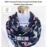 Грелки шеи способа шарфа безграничности белки сыча 100% Viscose Европ