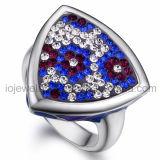 Anello di cristallo dei monili con acciaio inossidabile 316