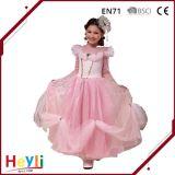 Vestito da colore rosa del vestito dalla principessa Pink Wedding Stage Performance di modo