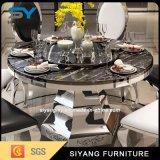 Tabela de jantar de mármore ajustada chinesa da tabela da tabela de jantar da mobília