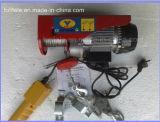 Mini grua elétrica da corda de fio com controle da C.C.
