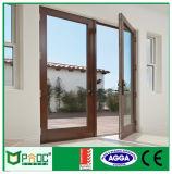 Fehlerfreier Beweis-Aluminiumflügelfenster-Tür mit einzelnem Glas Pnoc0013