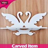方法防水白い白鳥の装飾的な現代壁の棚