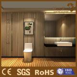 Panneaux de mur décoratifs d'intérieur en plastique en bois de PVC du composé WPC