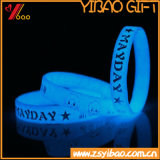어두운 빛난 실리콘 팔찌 (XY-BR-027)에 있는 고품질 놀