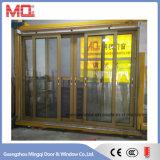 Moderno diseño de aluminio marco exterior puerta corredera de cristal en 2017
