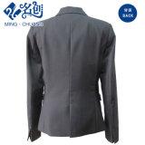 Schwarzer langer Hülsen-Dame-Form-Mantel mit Taschen
