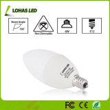 Energiesparende E12 6W wärmen weißes Kerze-Birnen-Licht der Kandelaber-LED