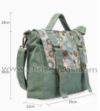 Forma do saco de ombro do saco das mulheres da lona
