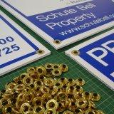 Placas de plástico ondulado impresso