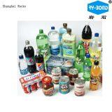 Plastikquellenwasser-Flaschen-Kennsatz-Kleber