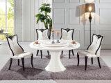 의자, 놓이는 저녁식사 가구를 가진 현대 대리석 식탁 (LT-32)
