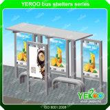 스테인리스 버스 대기소 정지를 광고하는 옥외 가구