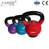 体操の適性装置のCrossfitの多彩なビニールの鋳鉄Kettlebell