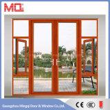 Aluminiumflügelfenster-Tür-Haupttür mit Gitter-Entwürfen