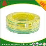 Câble électrique isolé par PVC à un noyau de résistance thermique H07V2-U 450/750V pour le câblage interne