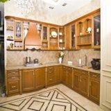 Античная мебель кухни твердой древесины Brown