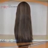 100%년 Virgin 머리 본래 색깔 실크 최고 가득 차있는 손에 의하여 묶이는 정면 레이스 가발