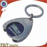 Supermercato Shopping Euro Size Metal Trolley Coin con Keyring (FTTR0102A)
