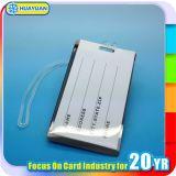 Etiquetas dominantes del equipaje de encargo del PVC de la alta calidad de HUAYUAN con la correa del silicón