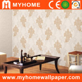 Papel pintado grueso profundamente realzado del PVC para la decoración interior