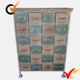 Madera de abeto sólida Vintage Shabby Chic Furniture Multi-gaveta