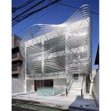 Panneaux en aluminium incurvés pour l'usage de système de mur rideau