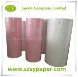 Papier autocopiant teinté