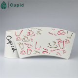 Hztl Customized Size Food Grade Disposable Single PET Coated Cup Paper für Paper Cup