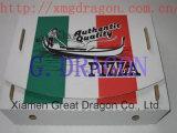 Euroart-dünnes Anzeigeinstrument-gewölbter Kraftpapier-Pizza-Kasten (PIZZ001)