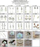Высокое качество и серьга звезды ювелирных изделий плакировкой серебра 3A CZ сбывания средства серебряная (E6715)