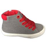 Schwarze/weiße Lace-up Kind-Sport-Art Belüftung-Einspritzung-Segeltuch-Schuhe