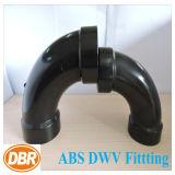 ABS Dwv de taille de 3 pouces ajustant la longue courbure du mouvement circulaire 1/4