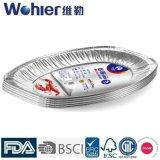표준 사이즈 알루미늄 호일 콘테이너 또는 쟁반 또는 격판덮개 베이크 팬