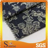 Ткань жаккарда джинсовой ткани Slub Spandex хлопка (SRSCSP 1844)