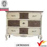 Boutons en cristal rose décoratif Cabinet en bois antique en bois massif