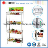 Supermaket Store Metal Fruit Vegetable Display Rack com cesta, NSF Aprovação