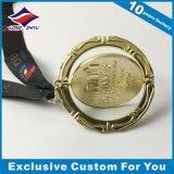 Medalha do prêmio do giro 3D Brilhante Ouro Companhia