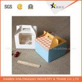 주문을 받아서 만들어진 운반대 손잡이 판지 최신 판매 케이크 상자