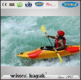 Rápido de kayak individual Siéntese en agua kayak Mini Barco Blanco / canoa / velocidad