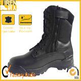 黒い本物牛革Goodyearの軍隊のブートの軍の戦術的な戦闘用ブーツ