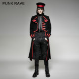 Y-713 Punk Rave Uniform Impacto Largo Irregular Western Wool Coat